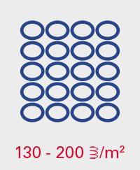 A.BON MINI 130-200 Federn pro m2