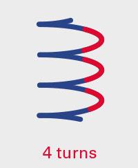 4 turns